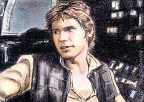 Han Solo mini-portrait by whu-wei