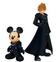 Mickey and Roxas by Legend-tony980