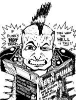 Punk Is Dead - zine cover by yummytacoburp69