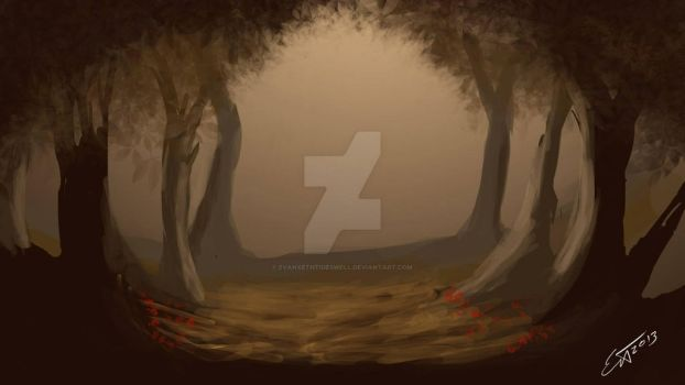 Forest Speed Painting by EvanXethTideswell