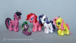 My Little Pony Charms by misha-dragonov
