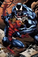 Spider-Man vs Venom by logicfun