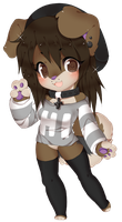 chibi furry dog by Love-The-Nekos