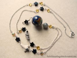 Outer Space Necklace by Forbiddenynforgotten