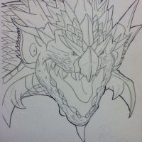 Rathalos (Work in progress) by Retro-Eternity