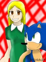 B-DAY GIFT CUBIE AND SONIC by 7marichan7