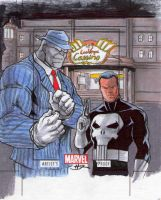 Mr Fix and Punisher ARTIST PROOF Sketch Card by danielhdr