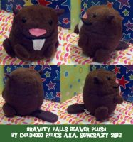 Gravity Falls Beaver Plush by SowCrazy