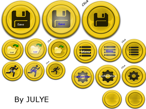 Yellow buttons by JULYE-sama