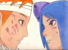 Yahiko and Konan by Cartoon-Elfje