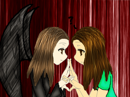 Me and my Death Angel NEW by FoxClaw100