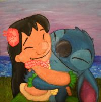 Lilo and Stitch Friends Forever by HippocornDesigns