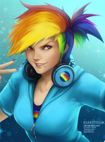 MLP Rainbow Dash by Elekitelik