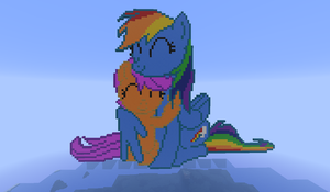 Minecraft - Rainbowdash and Scootaloo by Shiron95