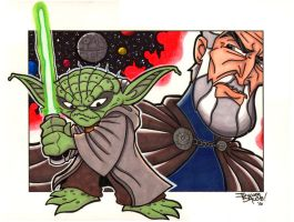 Yoda and Count Dooku by thatjuniorbruce