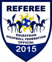 Equestria Hoofball Federation Referee Badge (2015) by RedCard94