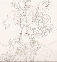 Marie Antoinette : Sketch no.2 by PinkPigtails