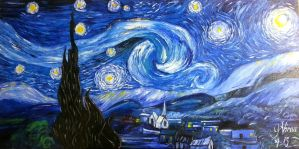 Starry night commission work by virnagray