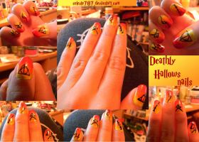 Deathly Hallows Nails by Celeste707