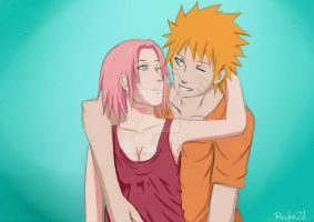 NaruSaku [collab] by Zilcherizen