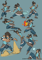 Korra sketches by Guzusuru