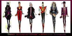 Disney villains go fashion II by Sashiiko-Anti