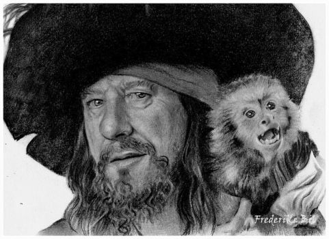 Barbossa and Jack by FinAngel