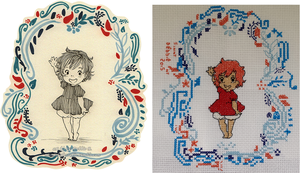 Cross stitch Ponyo by Zinnestheyl