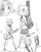 K-ON! Yui sketchy fun times by kaniphish