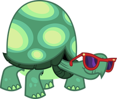 The tortoise with swag by porygon2z