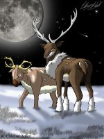 Stantler and Sawsbuck AT by shadow-of-insanity
