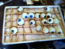 Box Full of Glass Eyeballs by mhalpert