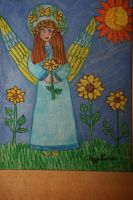 Angel of sunflowers by ingeline-art