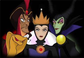 Disney Villains by AladdinsFan