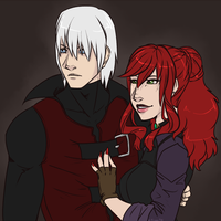 Devil May Cry 1 Dante and Syne (3) by Syrae-Universe