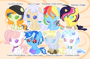 Foal Ship Adoptables #1 -CLOSED- by JenyTheAlicorn