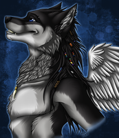 Wolfieee - Bust Commission by kcravenyote