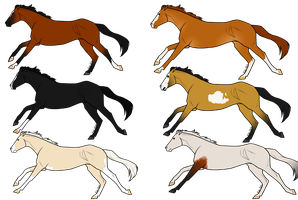Thoroughbred Adoptables| 3 OPEN by FoxtailRidgeStables