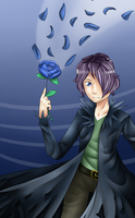 The blue rose by Julisia2