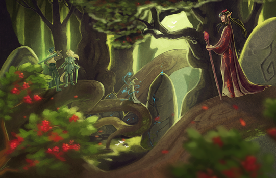 The rooted path by draiad