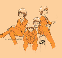 Beatles in Orange by torksmith