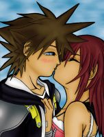 Sora and Kairi by GuyaricanKitten
