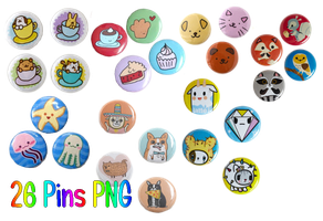 26 Pins PNG by JEricaM