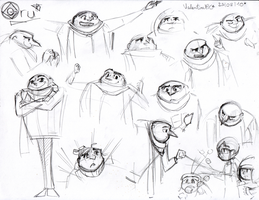 Despicable Me:Gru Sketches by kittyXartist