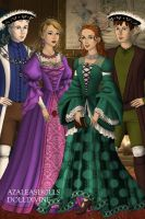 The Big Four: Tudors by grandduchesscrazy