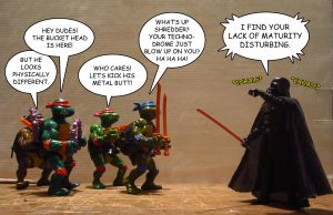 TMNT VS Darth Vader by OptimusConvoy