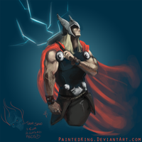 Speed Paint 03: Thor, God of Thunder by PaintedKing