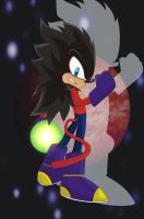 Shadow Super Saiyan 4 by o0Vegeta0o