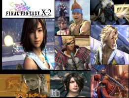 Final Fantasy X2 Collage by kingdomhearts800