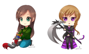 -- Chibi commissions for MysticalTemptress -- by Kurama-chan